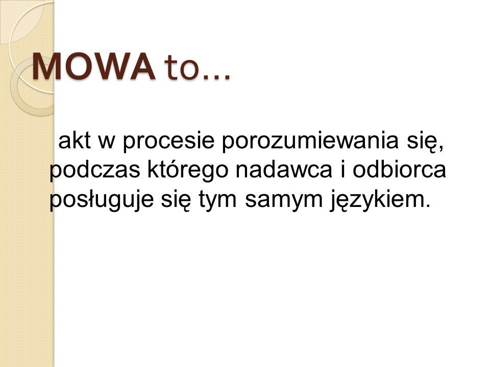 MOWA to...