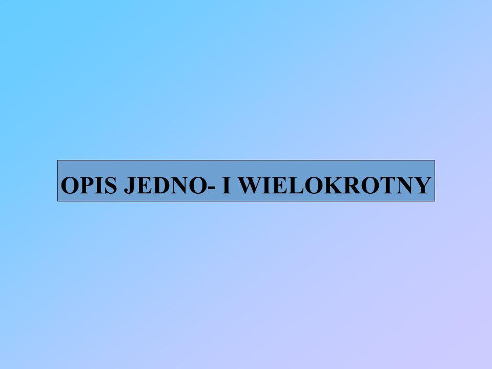 OPIS JEDNO- I WIELOKROTNY