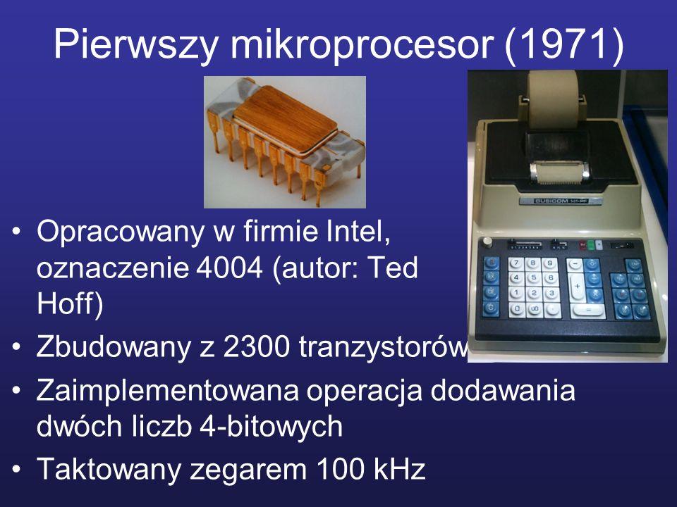 Pierwszy mikroprocesor (1971)