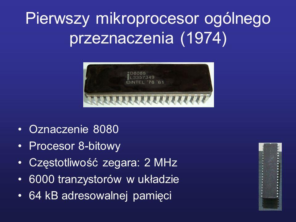 Pierwszy mikroprocesor ogólnego przeznaczenia (1974)