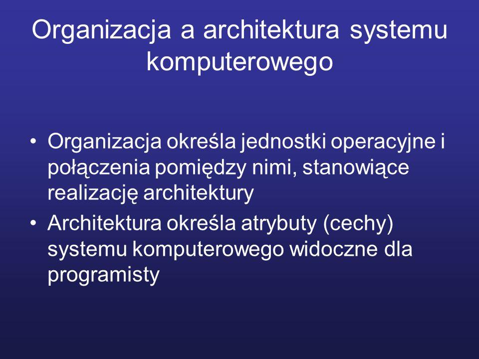 Organizacja a architektura systemu komputerowego
