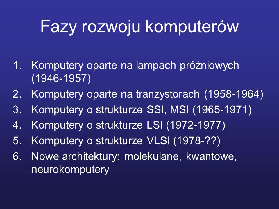 Fazy rozwoju komputerów