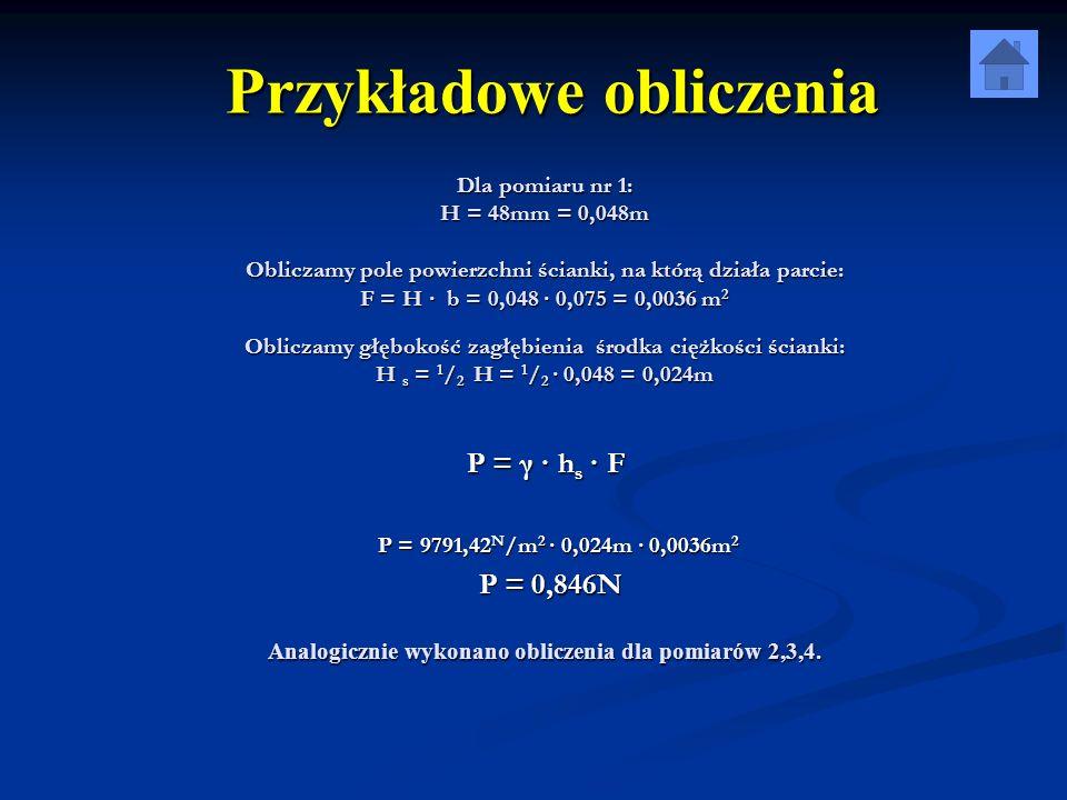 Przykładowe obliczenia