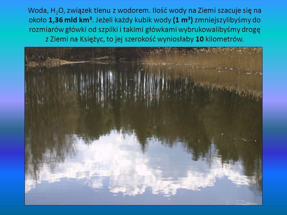 Woda, H2O, związek tlenu z wodorem