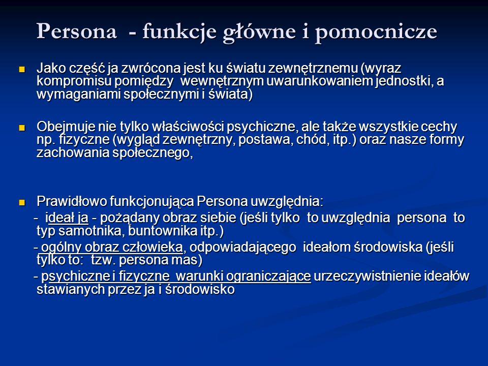 Persona - funkcje główne i pomocnicze