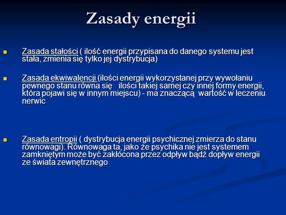 Zasady energii Zasada stałości ( ilość energii przypisana do danego systemu jest stała, zmienia się tylko jej dystrybucja)