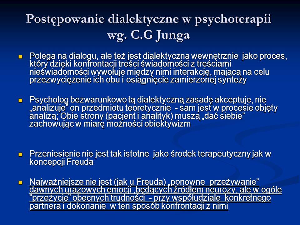 Postępowanie dialektyczne w psychoterapii wg. C.G Junga