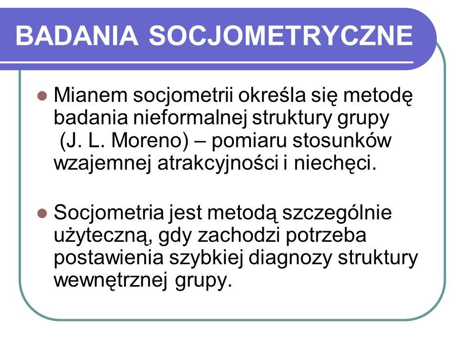 BADANIA SOCJOMETRYCZNE