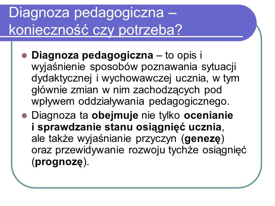 Diagnoza pedagogiczna – konieczność czy potrzeba