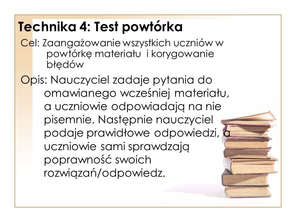 Technika 4: Test powtórka