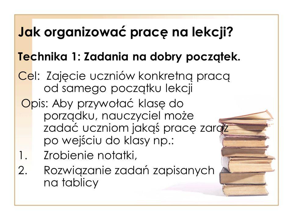 Jak organizować pracę na lekcji
