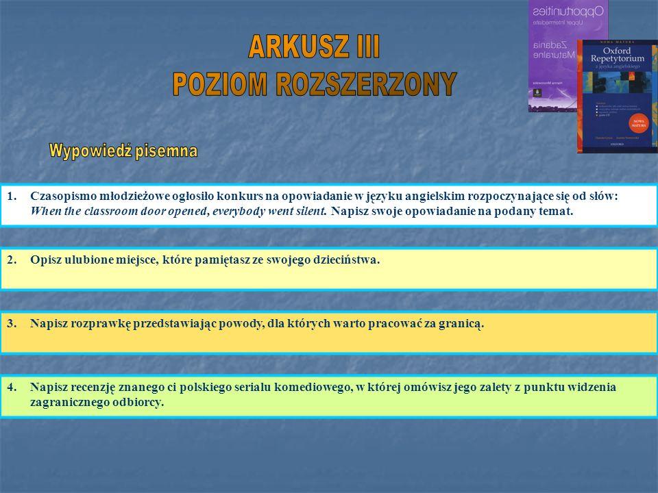 ARKUSZ III POZIOM ROZSZERZONY