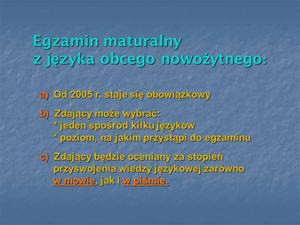 z języka obcego nowożytnego: