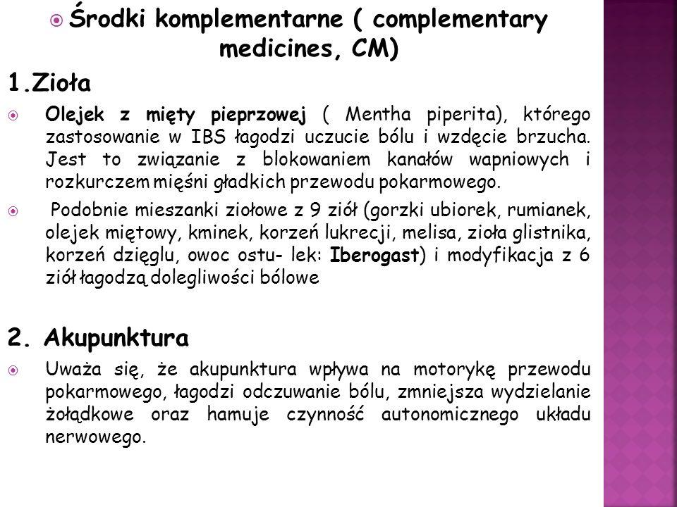 Środki komplementarne ( complementary medicines, CM)