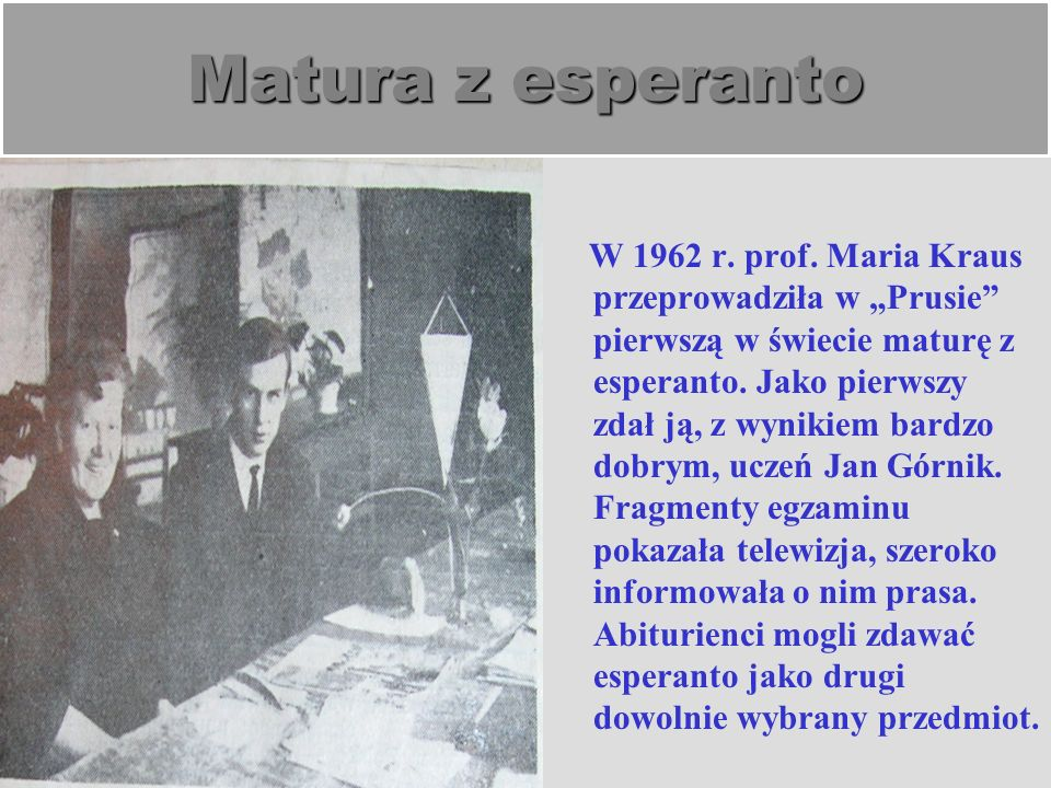Matura z esperanto
