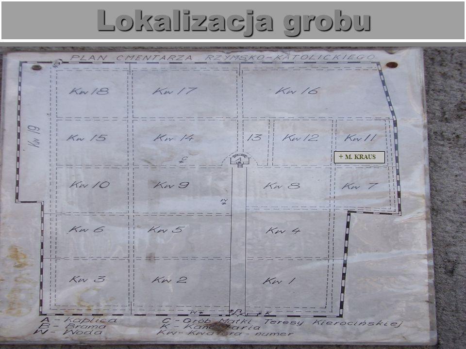 Lokalizacja grobu + M. KRAUS