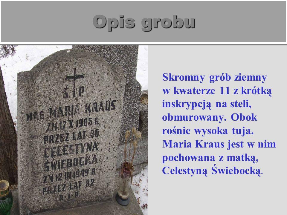 Opis grobu Skromny grób ziemny