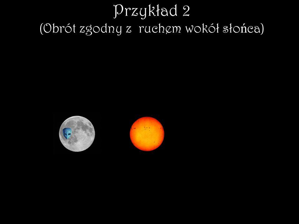 Przykład 2 (Obrót zgodny z ruchem wokół słońca)