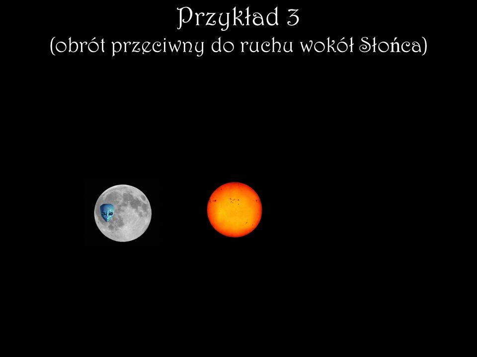 Przykład 3 (obrót przeciwny do ruchu wokół Słońca)