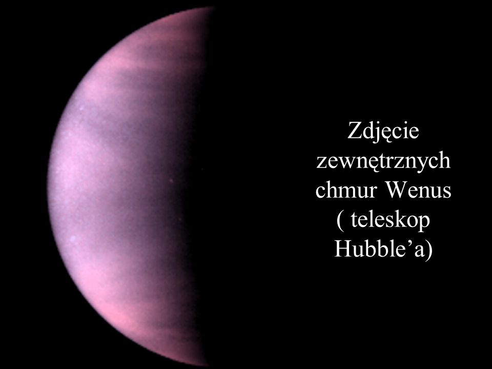 Zdjęcie zewnętrznych chmur Wenus ( teleskop Hubble'a)