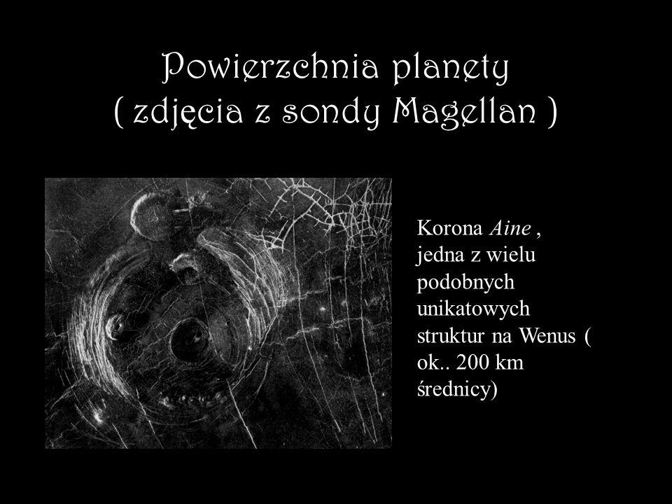 Powierzchnia planety ( zdjęcia z sondy Magellan )