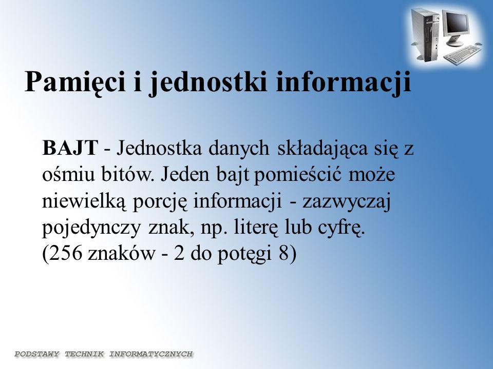 Pamięci i jednostki informacji