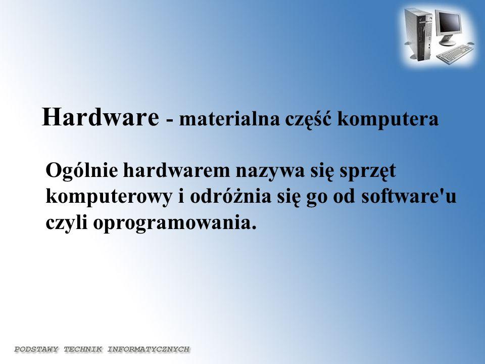 Hardware - materialna część komputera