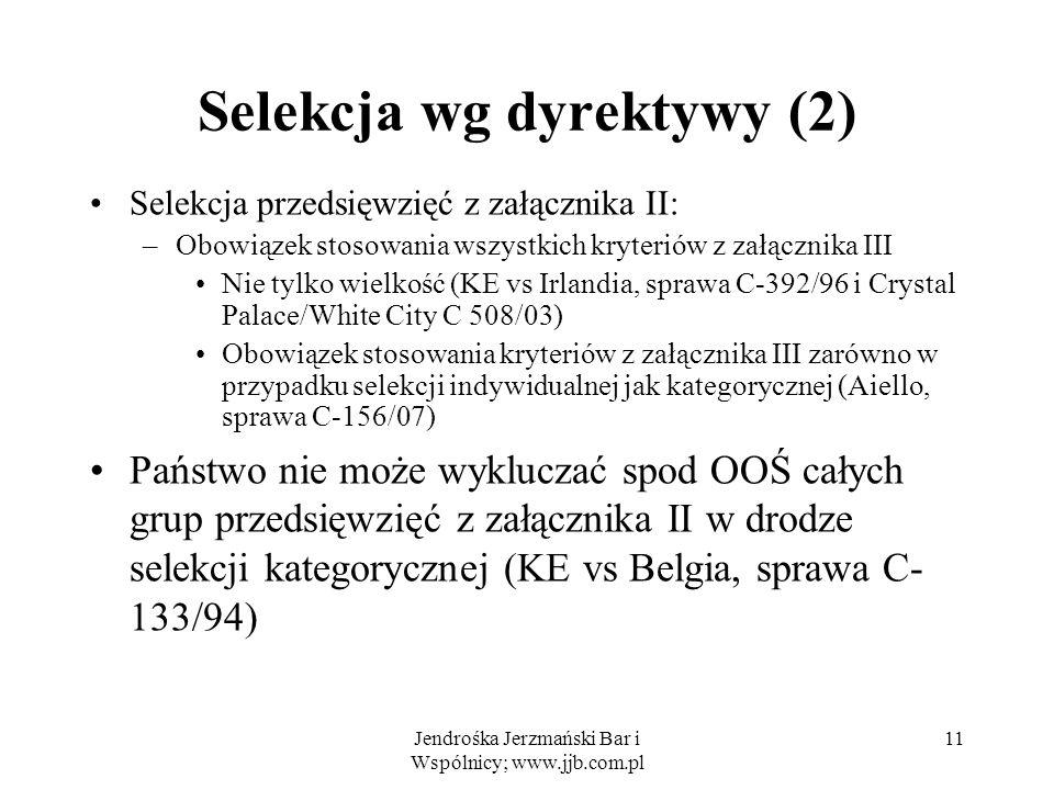 Selekcja wg dyrektywy (2)