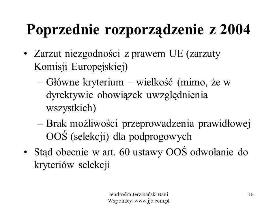 Poprzednie rozporządzenie z 2004