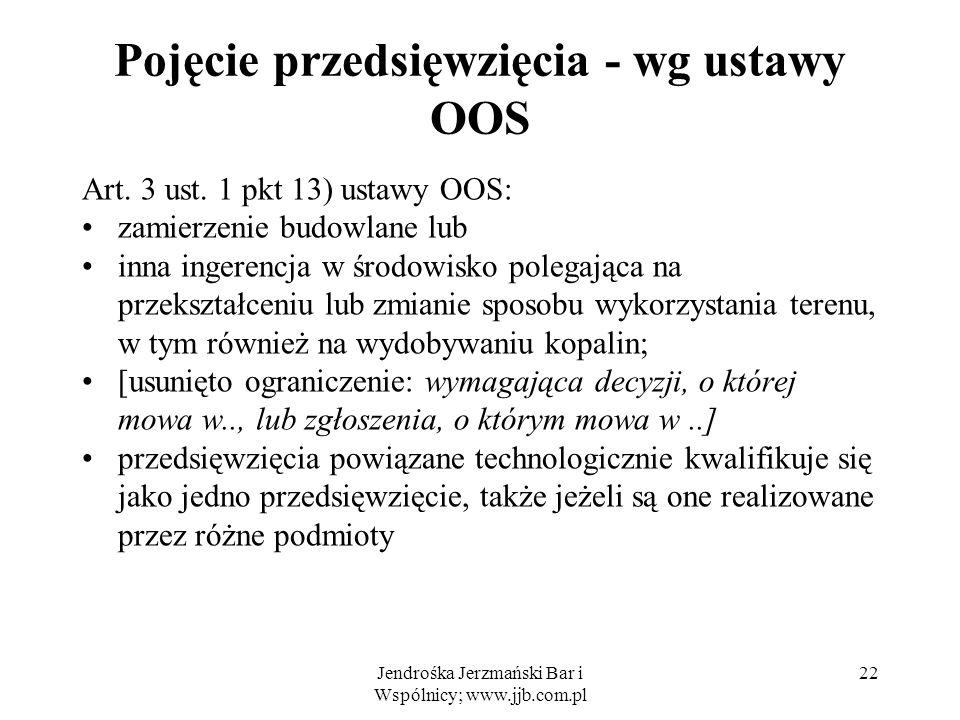 Pojęcie przedsięwzięcia - wg ustawy OOS