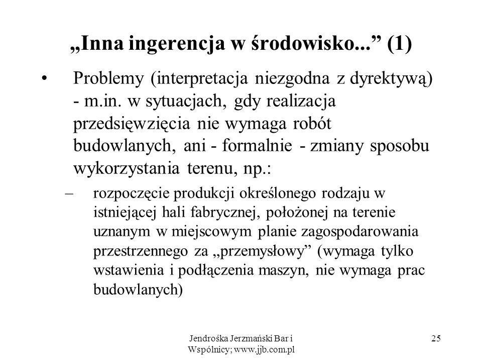 """""""Inna ingerencja w środowisko... (1)"""