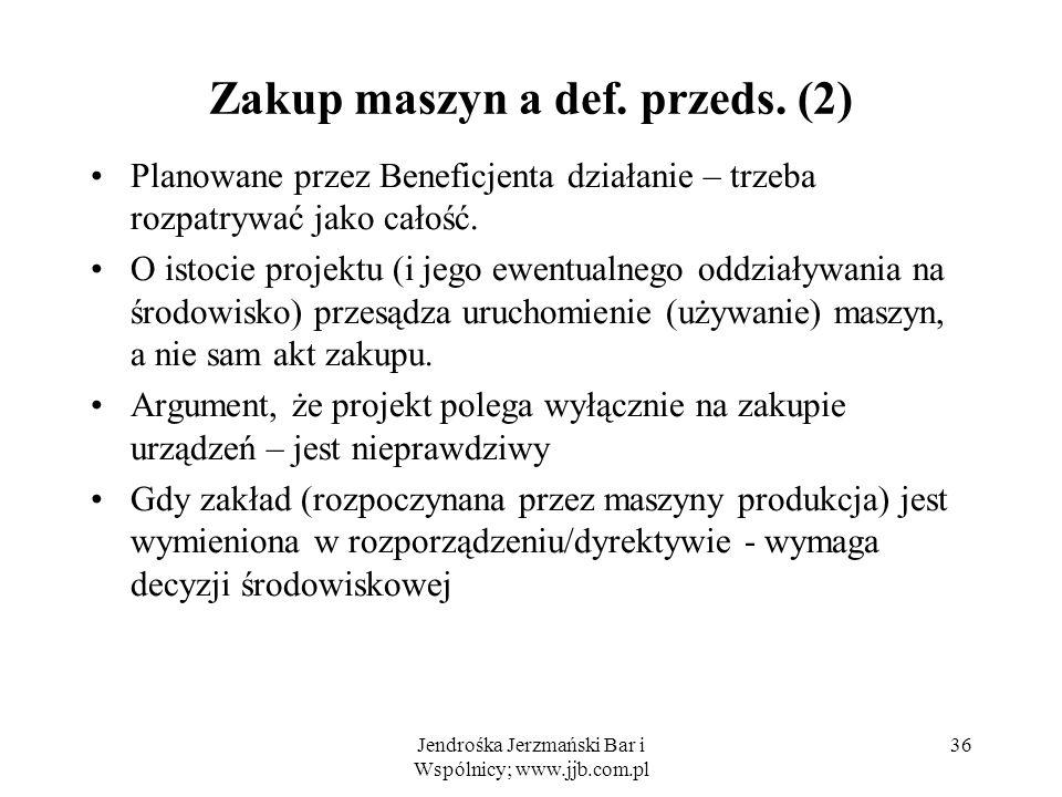 Zakup maszyn a def. przeds. (2)