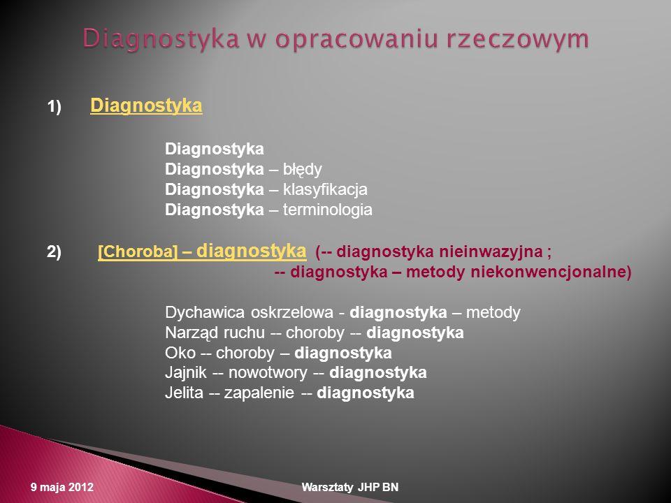 Diagnostyka w opracowaniu rzeczowym