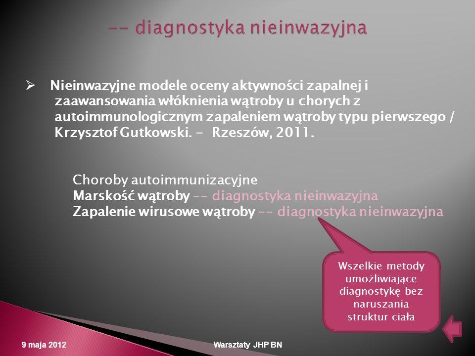 -- diagnostyka nieinwazyjna