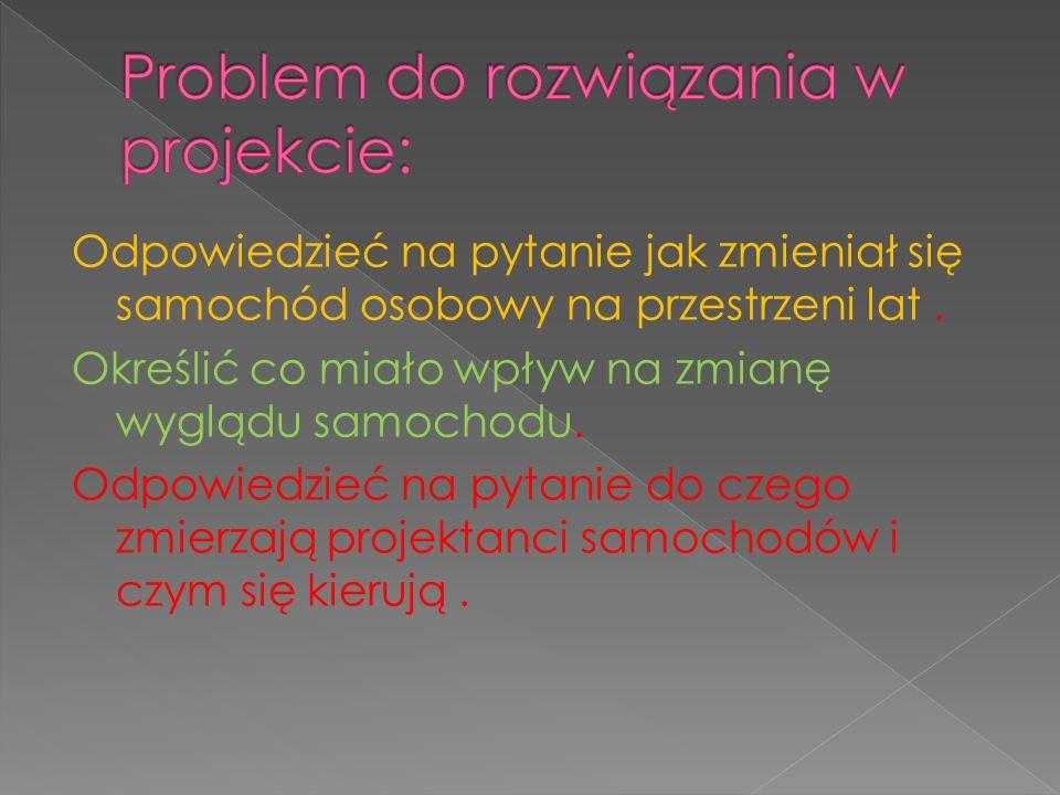 Problem do rozwiązania w projekcie: