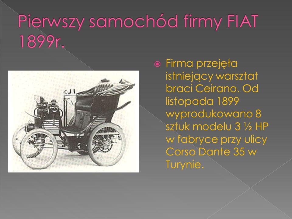 Pierwszy samochód firmy FIAT 1899r.