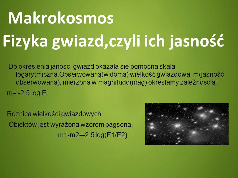 Makrokosmos Fizyka gwiazd,czyli ich jasność