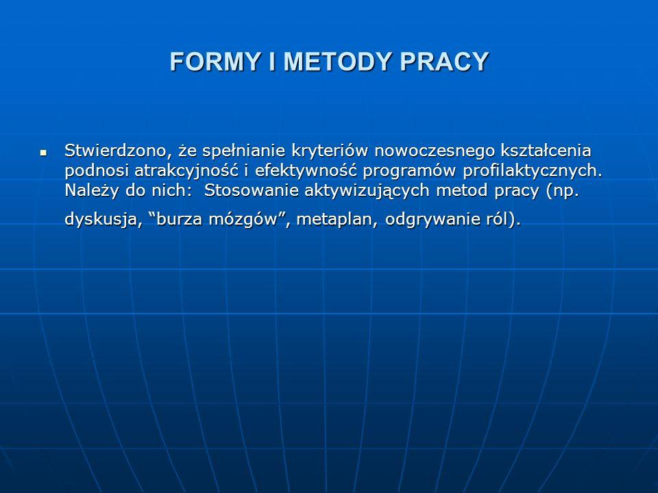 FORMY I METODY PRACY