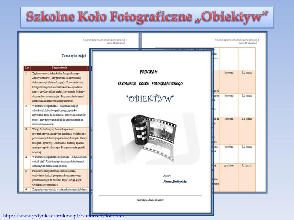 """Szkolne Koło Fotograficzne """"Obiektyw"""