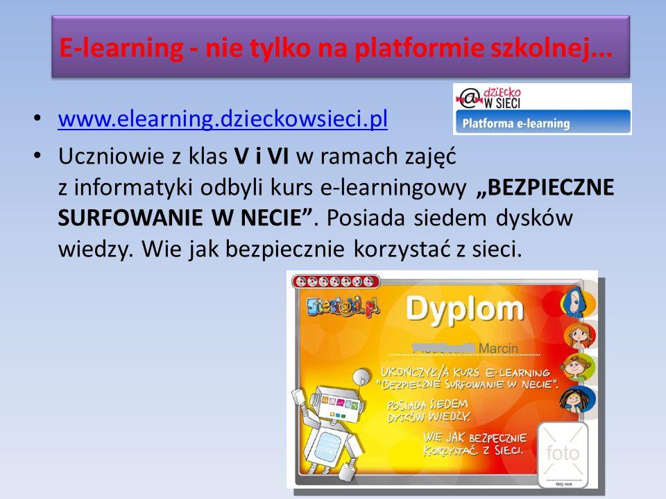 E-learning - nie tylko na platformie szkolnej...