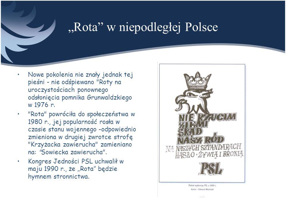 """""""Rota w niepodległej Polsce"""