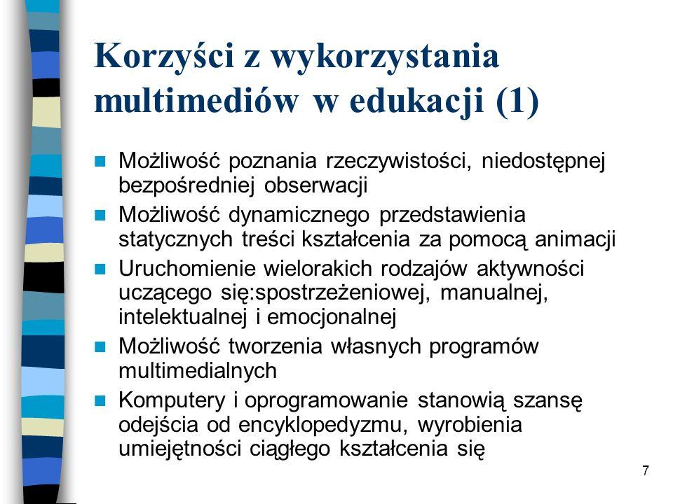 Korzyści z wykorzystania multimediów w edukacji (1)