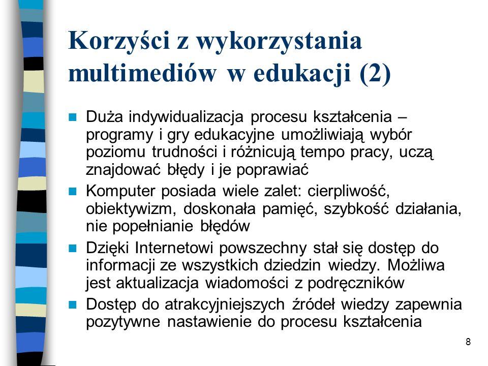 Korzyści z wykorzystania multimediów w edukacji (2)