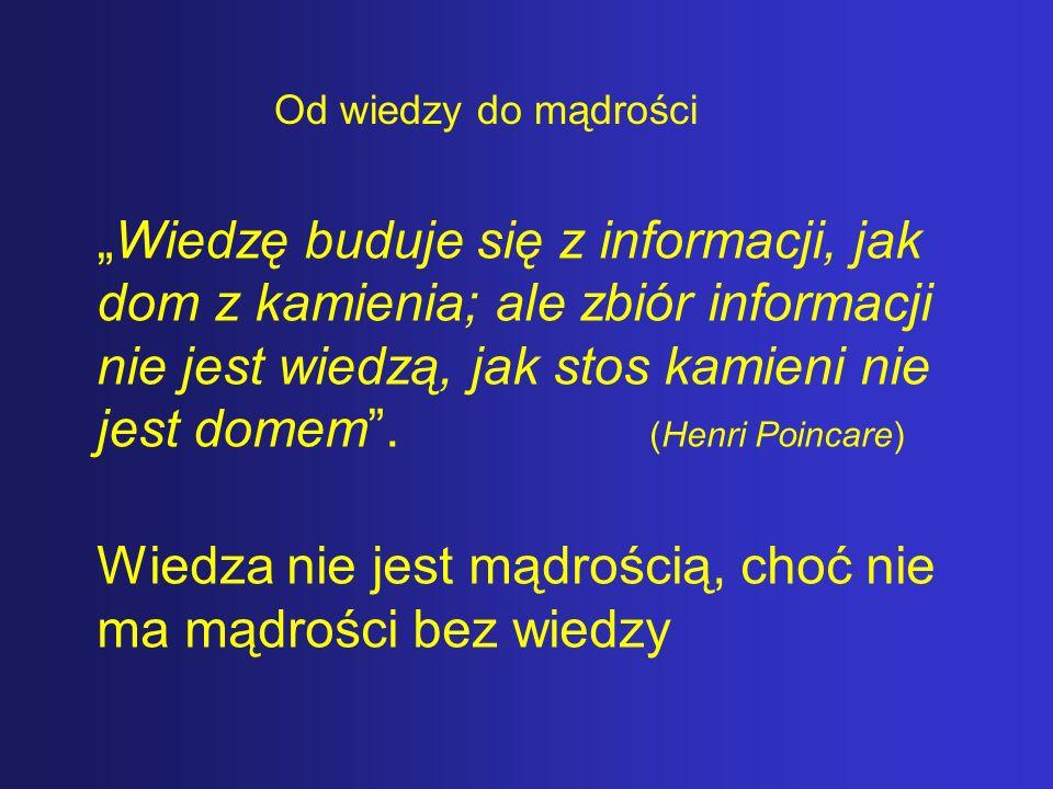 Wiedza nie jest mądrością, choć nie ma mądrości bez wiedzy