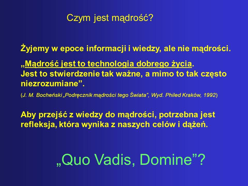 """""""Quo Vadis, Domine Czym jest mądrość"""