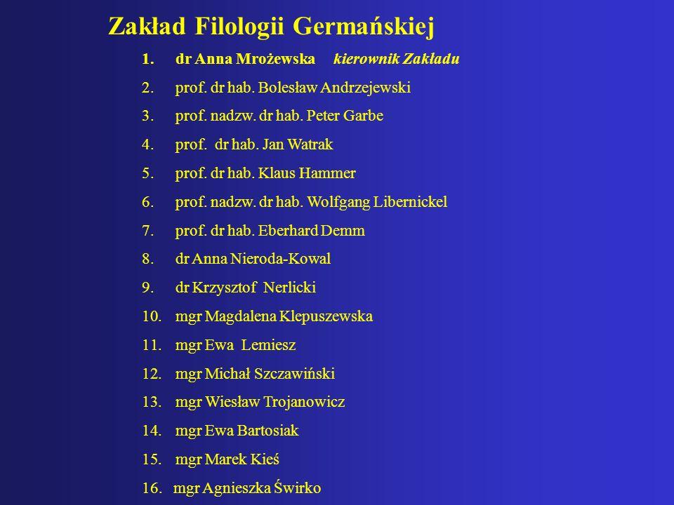 Zakład Filologii Germańskiej