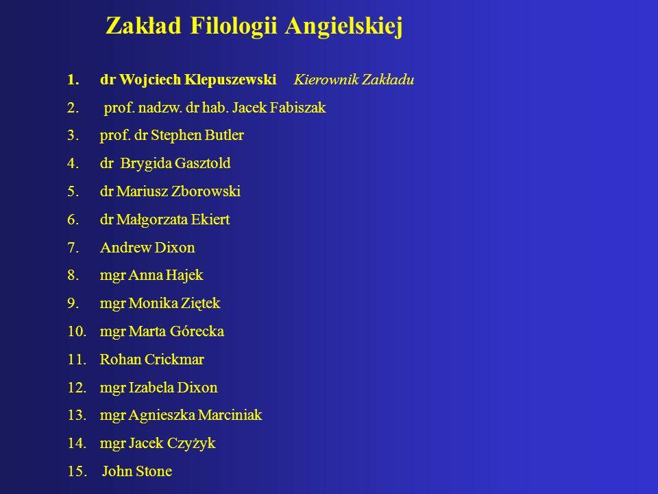 Zakład Filologii Angielskiej