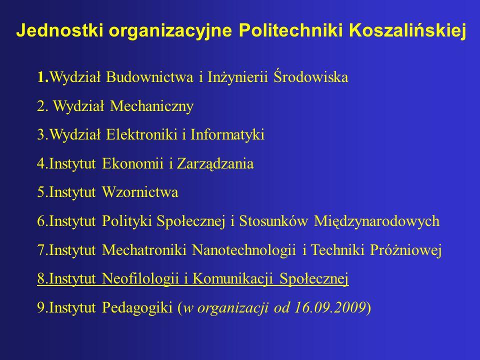Jednostki organizacyjne Politechniki Koszalińskiej