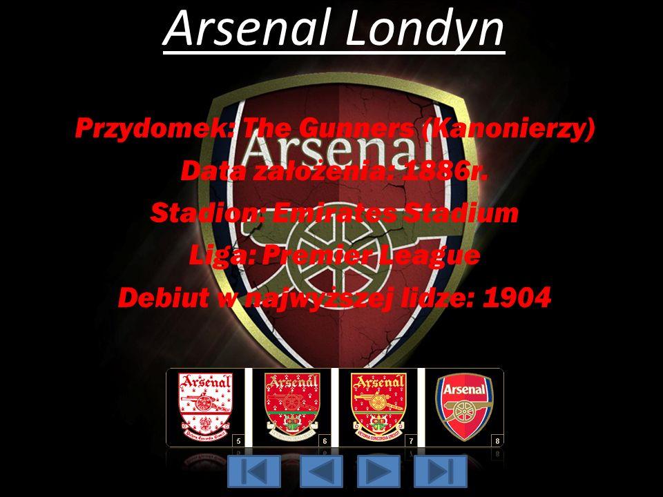 Arsenal Londyn Przydomek: The Gunners (Kanonierzy)