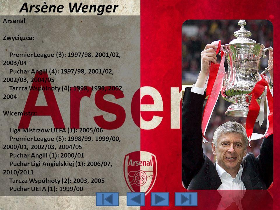 Arsène Wenger Arsenal Zwycięzca: